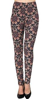 Viv Collection Size Chart Galleon Viv Collection Plus Size Printed Brushed Leggings