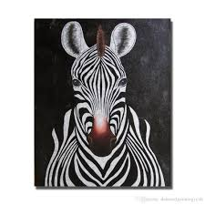 2018 abstract zebra painting sitting room decoration hand painted modern oil painting on canvas decorative wall painting animal art no framed from