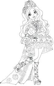 Page A Colorier Apple Free Printable Ever After High Coloring Pages