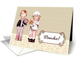 danke! wedding thank you card in german vintage card other Wedding Greetings In German fun vintage little bride and groom wedding thank you greeting cards in german with wedding greetings german