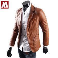 2019 whole big size leather jacket for men casaul slim pu leather suit jackets men s waterproof blazer coats black brown yellow m l from yukime