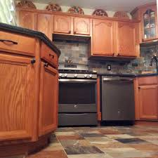 Kitchens With Slate Appliances Porcelain Slate Tile Kitchen With Ge Slate Appliances Dirty
