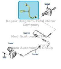 new oem clutch master cylinder hose ford focus l  image is loading new oem clutch master cylinder hose 2012 2013