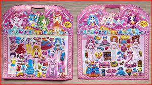 Dán hình và tô màu thay quần áo cho búp bê thần tiên / Sticker dolly  dressing (Chim Xinh) - YouTube