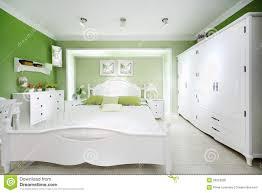Stilvolles Grünes Schlafzimmer Stockfoto Bild Von Luxus Dekor