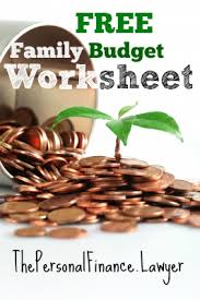 Free Family Budgeting Worksheets Family Budget Template The Personal Finance Lawyer