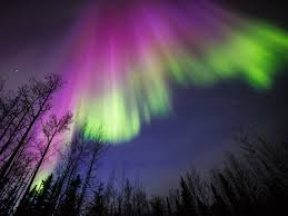 Purple Green Purple And Green Aurora In Alaska Nasa