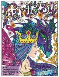 fantasy coloring book by deborah muller s amazon