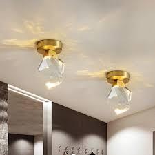 brass irregular flush mount lamp modern