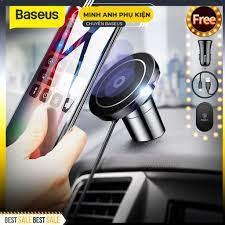 Đế giữ điện thoại tích hợp sạc không dây Baseus Big Ears Car Mount Wireless  Charger tại Hà Nội