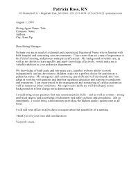 Cover Letter Format For Nursing Job Cover Letter For Nursing Job