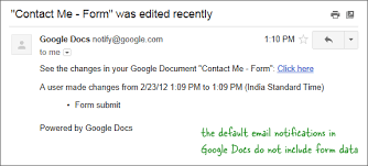 Email Me How To Get Google Forms Data In An Email Message