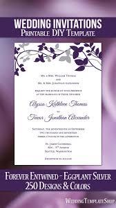 Wedding Invitations Templates Purple Forever Entwined Wedding Invitation Purple Eggplant Silver Dream