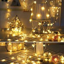 Dây đèn LED hình ngôi sao dễ thương dùng trang trí - Đèn trang trí