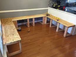 Bench Style Kitchen Tables Kitchen Table Bench Dimensions Best Kitchen Ideas 2017