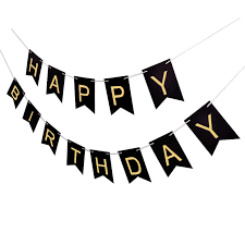 1set Paper Gold Printed Letter Happy Birthday Banner Birthday Party Decorations Kids Garland Baby Boy Girl Adult Favors Bunting