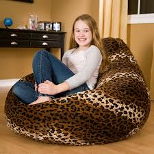 gold medal fashion large faux suede animal print teardrop bean bag chair hayneedle