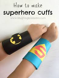 how to make superhero cuffs using toilet rolls s