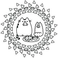 Pusheen Coloring Pages Summer New Free At Gshare