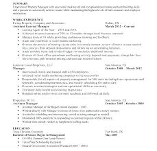 Sample Resume For Property Manager Best Of Assistant Property Manager Resume Assistant Property Manager Resume