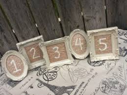 5 vintage style table numbers small ornate picture frames you choose the color wedding reception sign