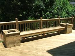 ... Ideas Of Build Benches W Planters for Back Deck Maybe Add A Matching  Table with Deck ...