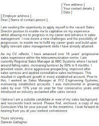 Sample Cover Letter Sales Manager Sales Manager Covering Letter Sample