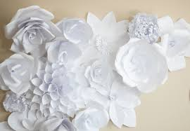 White Paper Flower Backdrop Paper Flower Backdrop Flower 2 Ash And Crafts