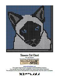 Cat Knitting Chart Siamese Cat Chart Pattern By Melanie Nordberg