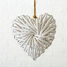 Fensterdeko Dekohänger Herz Nadiya Weiß 20cm Kafen