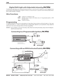 msd ignition wiring diagrams msd digital shift light