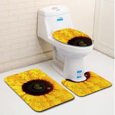 3pcs bathroom toilet mat anti slip bath rugats modern bathroom decoration hd does not