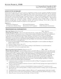 Human Resources Resume Example Sample