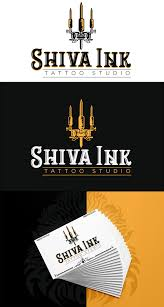 Tattoo Studio Logo Design On Pantone Canvas Gallery