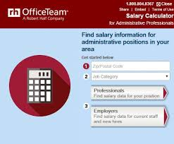 use the officeteam salary calculator at officeteam com salary  use the officeteam salary calculator at officeteamcomsalarycenter to personalize the