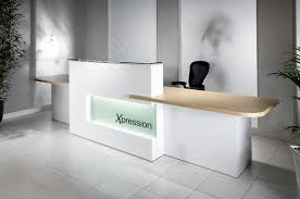 contemporary ikea reception desk for white office ideas with elegant black leather chair