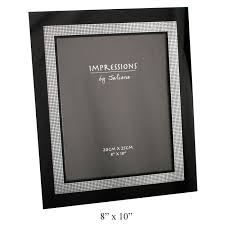 silver modern picture frames. Contemporary Frames ModernImpressionsBlackSilverInnerEdgeDiamanteGlass Intended Silver Modern Picture Frames R