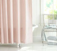 vintage ticking stripe shower curtain red traditional curtains pinstripe black and white striped pottery barn
