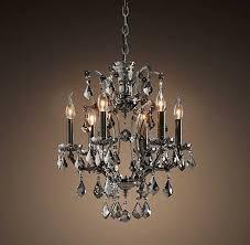 restoration hardware lighting chandelier inspirational 19th c rococo iron crystal chandelier smoke
