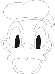 Maschera Di Paolino Paperino Personaggio Disney Da Colorare