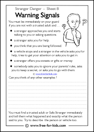 A stranger danger work sheet is part of this unit. Printable Stranger Danger Worksheets Page 2 Of 2 Www Free For Kids Com
