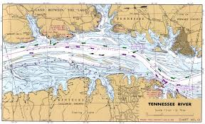 Tennessee River Navigation Charts Topographic Map Of Tennessee Lakes Images Index Of The