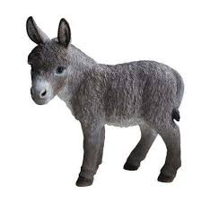 standing donkey statue