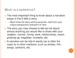 narrative essay presentation what is a narrative