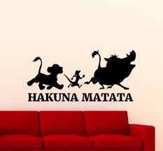 Hakuna Matata Lion King <b>Wall</b> Sticker Cartoon Timon Pumbaa <b>Vinyl</b> ...