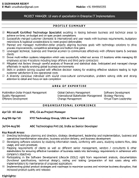 It Software Cv Format It Software Resume Sample And Template