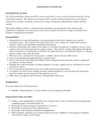 College Admission Cover Letter Sample Admissions Counselor Cover