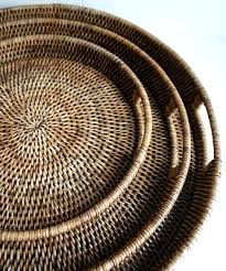 round woven serving trays 3 sizes available wicker tray basket whole suppliers shallow wicker tray big round