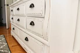 distressed white furniture. Interesting White White Distressed Chalky Paint Dresser Makeover At The Happy Housie14 In Furniture