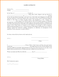 Simple Affidavit Sample Samples Of Invoices For Services Sample